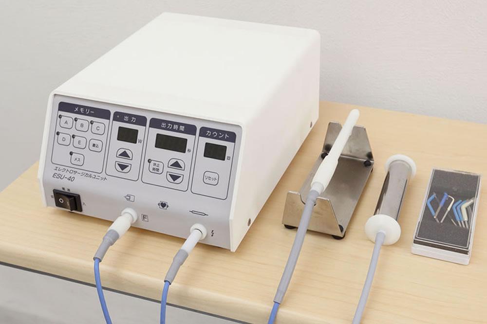 高周波治療器による殺菌、再生